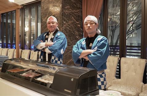 写真:出張寿司職人