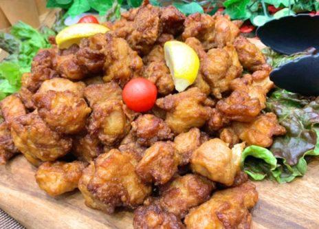 若鶏のから揚げ     油淋鶏ソース